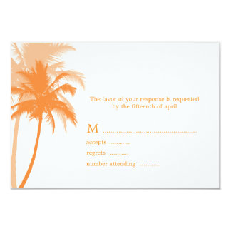 Palme-Strand-Hochzeits-Wartekarten 8,9 X 12,7 Cm Einladungskarte