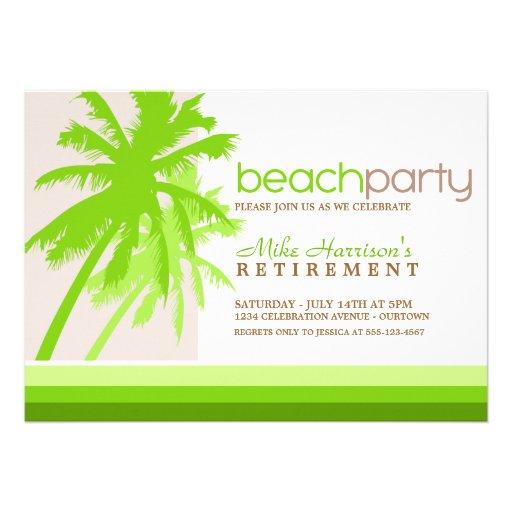 Palme-Strand-Party Einladungen