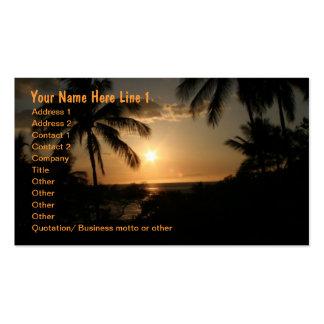 Palme-Strand-Sonnenuntergang Visitenkarten Vorlage