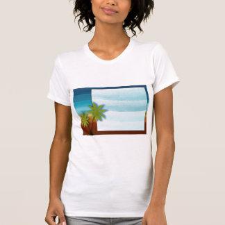 Palme-/Strandthemahochzeit/-ereignis T-Shirt