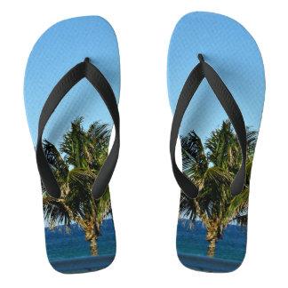 Palme über dem Ozean Flip Flops