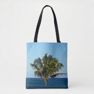 Palme über dem Ozean Tasche
