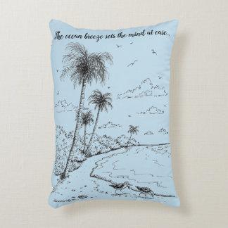 Palme-und Flussuferläufer-Strand-Leben Zierkissen
