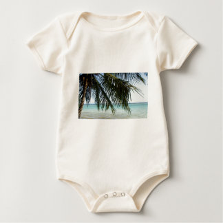 Palme und Strand Baby Strampler