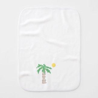 Palme und Sun-Cartoon Spucktücher
