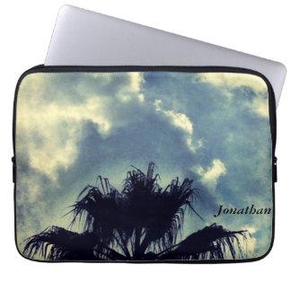 Palme und Wolkenlaptophülse Laptopschutzhülle