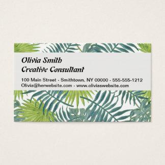 Palme-Vintage hawaiische Druck-Kunst Visitenkarte