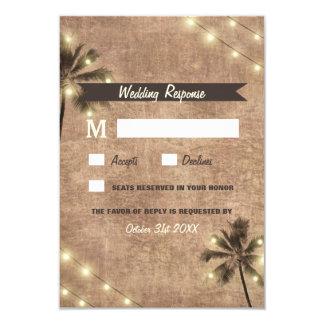 Palme-Vintage Licht-Strand-Hochzeit UAWG Karten 8,9 X 12,7 Cm Einladungskarte
