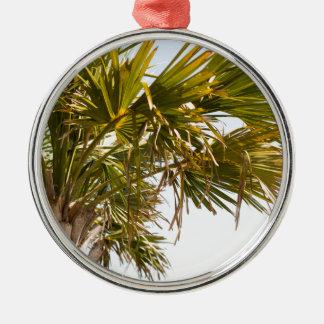 Palme von der Ostküste berühmtes Myrtle Beach Silbernes Ornament