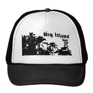 Palmehut der großen Insel-Liebe Schwarz-weißer Netz Caps