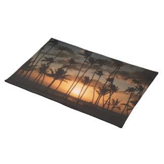 Palmen am Sonnenuntergang Tischset
