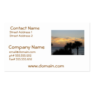 Palmen am Sonnenuntergang Visitenkartenvorlagen