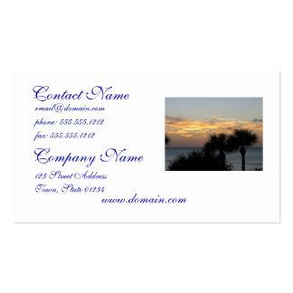Palmen am Sonnenuntergang Visitenkarte