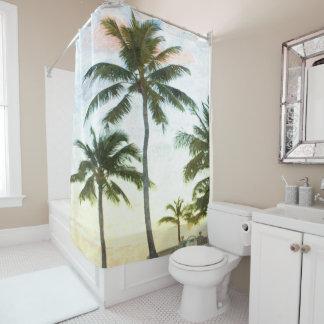 Palmen an der Dämmerung Duschvorhang