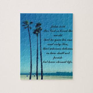 Palmen auf dem Strand Puzzle