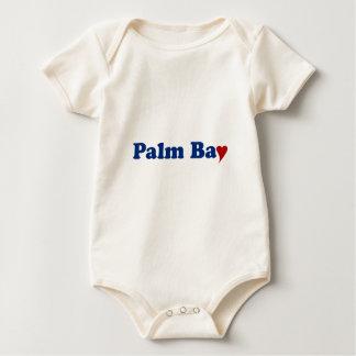 Palmen-Bucht mit Herzen Baby Strampler