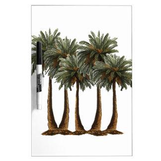 Palmen des Paradieses Trockenlöschtafel