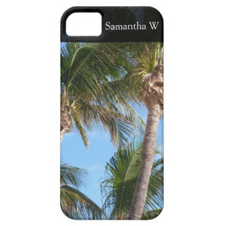 Palmen gegen blauen Himmel iPhone 5 Etuis