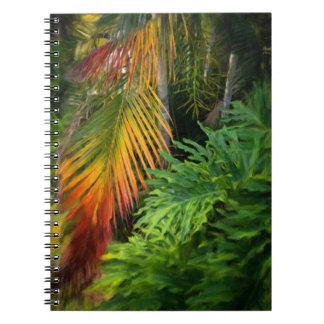 Palmen-Glühen-Notizbuch Spiral Notizblock