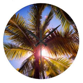 Palmen Große Wanduhr