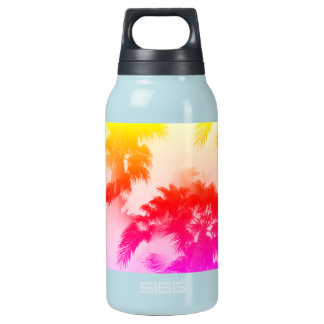 Palmen heiß und kalte Flasche