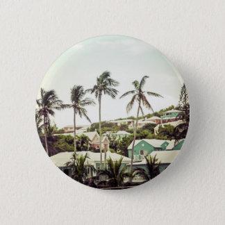 Palmen in Bermuda Runder Button 5,1 Cm