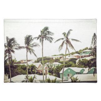 Palmen in Bermuda Tischset