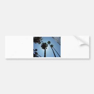 Palmen Los Angeles Hollywood USA Autoaufkleber