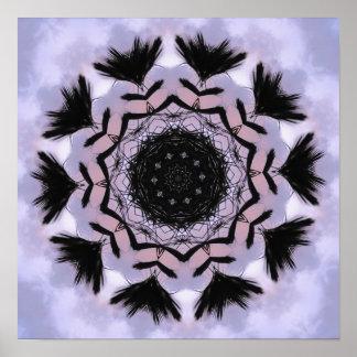 Palmen-Muster Poster
