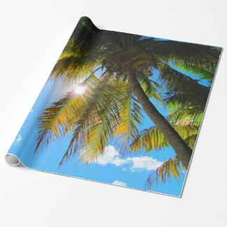 Palmen-Paradies-blauer Himmel-Sonnenschein Geschenkpapier