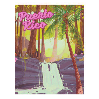Palmen-Reiseplakat Puertos Rico tropisches Poster