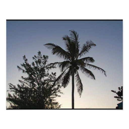 Palmen-Sonnenuntergang Personalisierte Einladungen