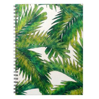 Palmen Spiral Notizblock