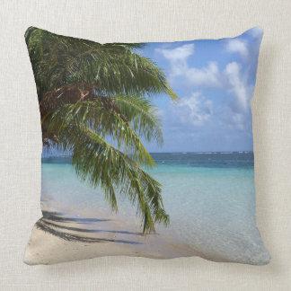 Palmen,Strand und Felsen Kissen