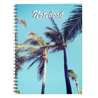 Palmen und blauer Himmel Spiral Notizblock