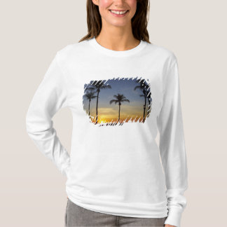 Palmen und Sonnenuntergang, Mindil Strand T-Shirt