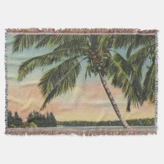 Palmen Vintag Decke