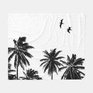Palmen Vögel des Entwurfs-27 Fleecedecke