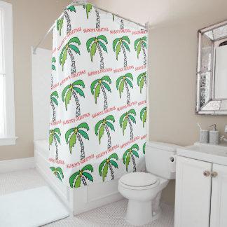 Palmen-Weihnachtsbaum Duschvorhang