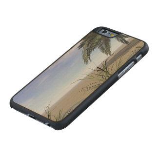 Palmen-Zen und -schritte Carved® iPhone 6 Hülle Ahorn