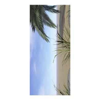 Palmen-Zen und -schritte Werbekarte