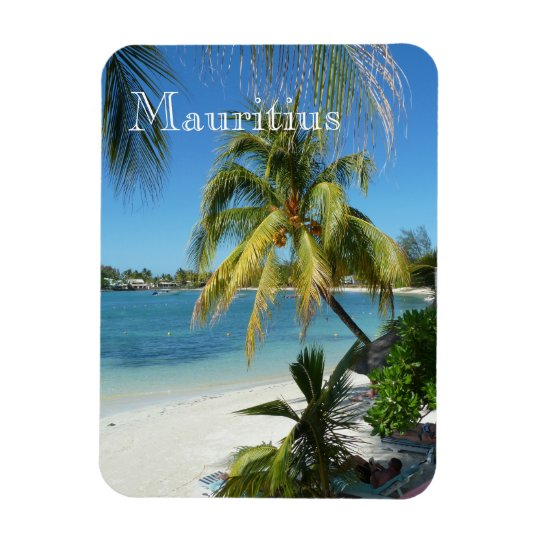 Palmenstrand auf Mauritius Magnet