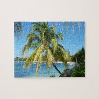 Palmenstrand auf Mauritius Puzzle