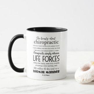 Palmer Zitat die Schönheit über Chiropraktik Tasse