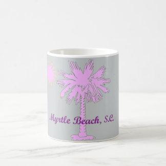Palmetto-Hitze-Logo mit Myrtle Beach, Kaffeetasse