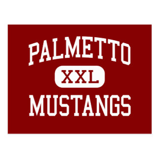 Palmetto - Mustangs - hoch - Williamston Postkarte