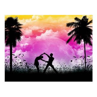 Palmtree Romance Postkarte