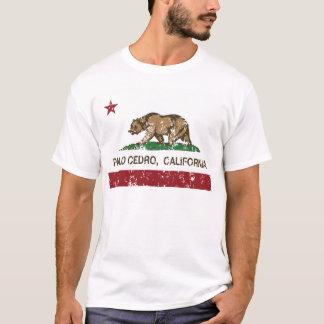 palo cedro Kalifornien-Staatsflagge T-Shirt