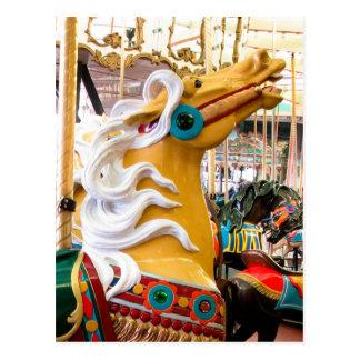 Palomino Looff Karussell-Pferd Postkarte