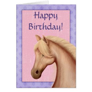 Palomino-Pferdelila und rosa alles- Gute zum Karte